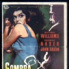 Folhetos de mão de filmes antigos de cinema: PROGRAMA DE CINE : SOMBRA EN LA NOCHE. PC-4152. Lote 170510161