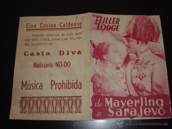 Cine: DE MAYERLING A SARAJEVO. MAX OPHULS.CINE CASINO CALDENSE - Foto 2 - 56250968