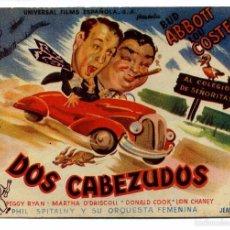 Cine: DOS CABEZUDOS, CON BUD ABBOTT Y LOU COSTELLO.. Lote 56264479