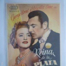 Cine: PROGRAMA DE CINE REINA DE LA PLATA. SIN PUBLICIDAD.. Lote 56310752