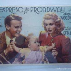 Cine: PROGRAMA DE CINE EL EXPRESO DE BROADWAY. SIN PUBLICIDAD.. Lote 56312508