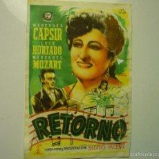 Cine: PROGRAMA RETORNO -MERCEDES CAPSIR . Lote 56317856