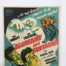 Cine: AGARRAME ESE FANTASMA, CINE GADES 1943. Lote 56380975