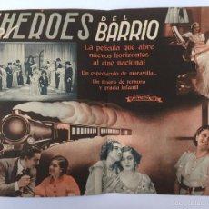 Cine: LOS HEROES DEL BARRIO, PROGRAMA DOBLE 1939 CINE MUNICIPAL CADIZ. Lote 56394137