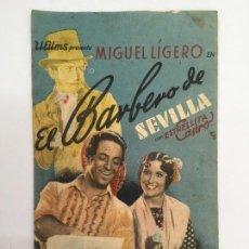 Cine: EL BARBERO DE SEVILLA, CINE MUNICIPAL CADIZ 1939. Lote 56394363