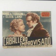 Cine: CABALLERO IMPROVISADO, PROGRAMA DOBLE CINE GADES 1940. Lote 56395023