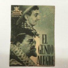 Cine: EL GENIO ALEGRE, GRAN TEATRO FALLA. Lote 56396037