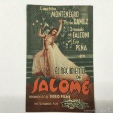 Cine: EL NACIMIENTO DE SALOME, CINE GADES 1941. Lote 56400053