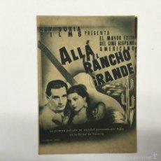 Cine: ALLA EN EL RANCHO GRANDE, CINE MUNICIPAL CADIZ 1941. Lote 56400086