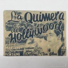 Cine: LA QUIMERA DE HOLLYWOOD, DOBLE- CINE GADES 1941. Lote 56404565