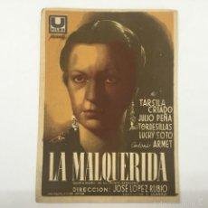 Cine: LA MALQUERIDA. CINE MUNICIPAL CADIZ 1941. Lote 56408069