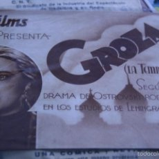 Cine: PROGRAMA DE CINE GROZA LA TEMPESTAD NIKOLÁI OSTROVSKI CINE RUSO 1935 DOBLE. Lote 56486408