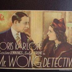 Cine: MR. WONG DETECTIVE, BORIS KARLOFF. Lote 56516524