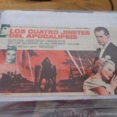 Cine: LOS CUATRO JINETES DEL APOCALIPSIS CINE IDEAL Y COLISEO DE ELDA CON PUBLICIDAD. Lote 56528838