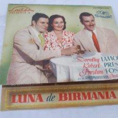 Cine: LUNA DE BIRMANIA. SIN PUBLICIDAD. DOBLE. Lote 56551864