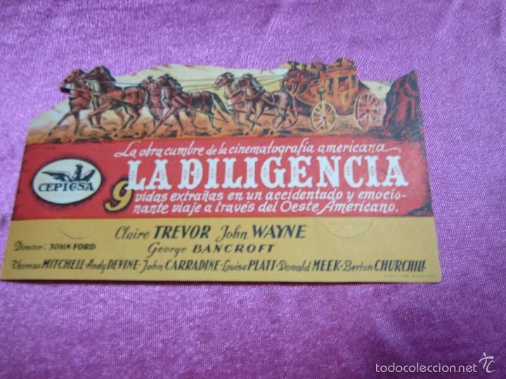 LA DILIGENCIA PROGRAMA DE CINE TROQUELADO EXCELENTE ESTADO C2 (Cine - Folletos de Mano - Acción)
