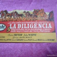 Cine: LA DILIGENCIA PROGRAMA DE CINE TROQUELADO EXCELENTE ESTADO C2. Lote 56595703