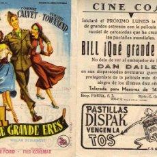 Cine: FOLLETO DE MANO BILL, QUE GRANDE ERES. CINE COSO ZARAGOZA VER ESTADO. Lote 56629415