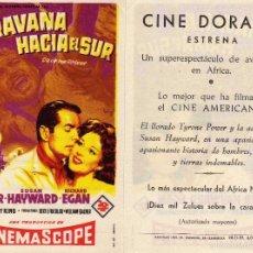 Cine: FOLLETO DE MANO CARAVANA HACIA EL SUR. CINE DORADO ZARAGOZA. Lote 214607987