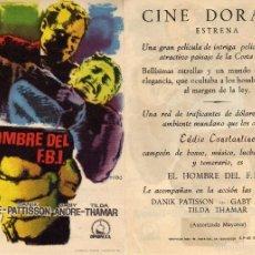 Cine: FOLLETO DE MANO EL HOMBRE DEL FBI. CINE DORADO ZARAGOZA. Lote 56630991