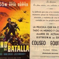 Cine: FOLLETO DE MANO HIMNO DE BATALLA. COLISEO EQUITATIVA ZARAGOZA. Lote 86076960
