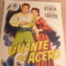 Folhetos de mão de filmes antigos de cinema: GUANTE DE ACERO. Lote 56661502
