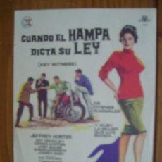 Cine: CUANDO EL HAMPA DICTA SU LEY. Lote 56661806