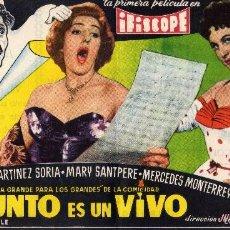 Cine: FOLLETO DE MANO DOBLE EL DIFUNTO ES UN VIVO CON PACO MARTINEZ SORIA. CINE GOYA ZARAGOZA. Lote 56703356