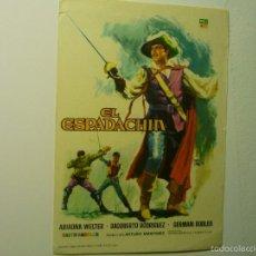 Foglietti di film di film antichi di cinema: PROGRAMA EL ESPADACHIN . Lote 56807415