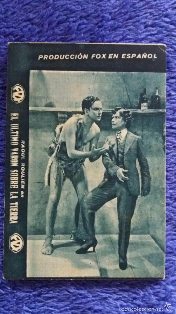 EL ULTIMO VARON SOBRE LA TIERRA / ABRIL 1933 / CINE CLAVÉ PALACE / MATARÓ (Cine - Folletos de Mano - Aventura)
