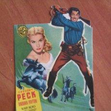 Cine: 1952 PROGRAMA DE MANO: SOLO EL VALIENTE - GREGORY PECK - TROQUELADO. Lote 56851049
