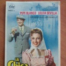 Cine: 1956 LA CHICA DEL BARRIO - PEPE BLANCO. Lote 56853856