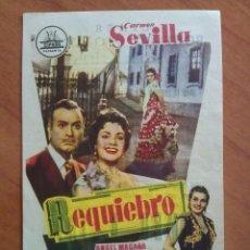 Cine: 1957 REQUIEBRO - CÁRMEN SEVILLA. Lote 56853889