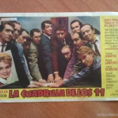 Cine: 1961 LA CUADRILLA DE LOS 11 - FRANK SINATRA. Lote 56854520