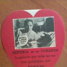 Cine: 1954 HISTORIA DE UN CORAZÓN - TROQUELADO. Lote 56860450