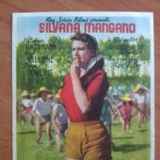 Cine: ARROZ AMARGO - - SILVANA MONGANO. Lote 56860687