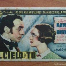 Cine: EL CIELO Y TÚ - BETTE DAVIS / CHARLES BOYER. Lote 56860725