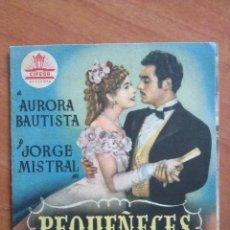 Cine: 1950 PEQUEÑECES - AURORA BAUTISTA. Lote 56862223