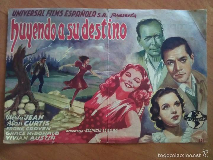 1946 HUYENDO DE SU DESTINO - GLORIA JEAN (Cine - Folletos de Mano - Drama)