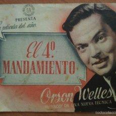 Cine: EL CUARTO MANDAMIENTO - ORSON WELLES. Lote 56863218
