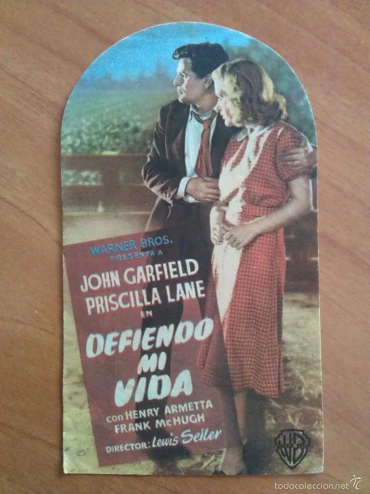 1949 DEFIENDO MI VIDA - JOHN GARFIELD (Cine - Folletos de Mano - Drama)