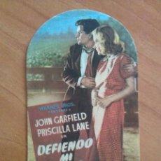 Cine: 1949 DEFIENDO MI VIDA - JOHN GARFIELD. Lote 56863285