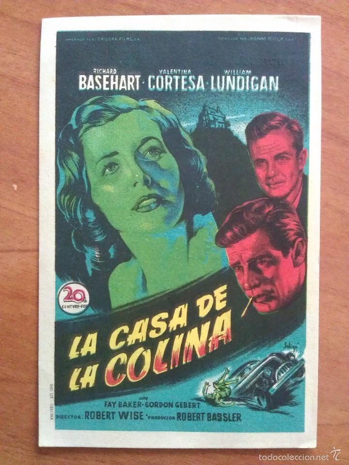 LA CASA DE LA COLINA (Cine - Folletos de Mano - Drama)