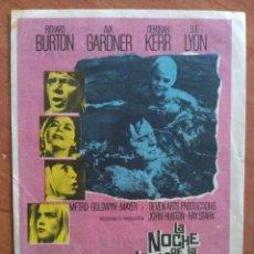Cine: LA NOCHE DE LA IGUANA - RICHARD BURTON. Lote 56863326