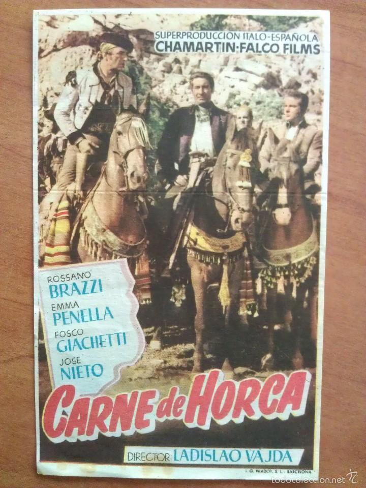 1954 CARNE DE HORCA - JOSÉ NIETO (Cine - Folletos de Mano - Drama)