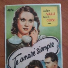 Cine: TE AMARÉ SIEMPRE - SIN PUBLICIDAD. Lote 56869257