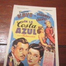 Cine: EN LA COSTA AZUL SOLIGO DANNY KAYE GENE TIERNEY. Lote 56891728
