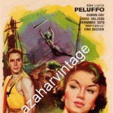 Cine: LA VENENOSA, IMPECABLE SENCILLO ORIGINAL, ANA LUISA PELUFFO RAMÓN GAY, SIN PUBLICIDAD. Lote 56899846