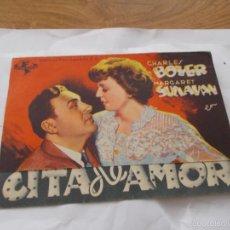 Cine: CITA DE AMOR CHARLES BOYER, MARGARET SULLAVAN - SIN PUBLICIDAD. Lote 56899956