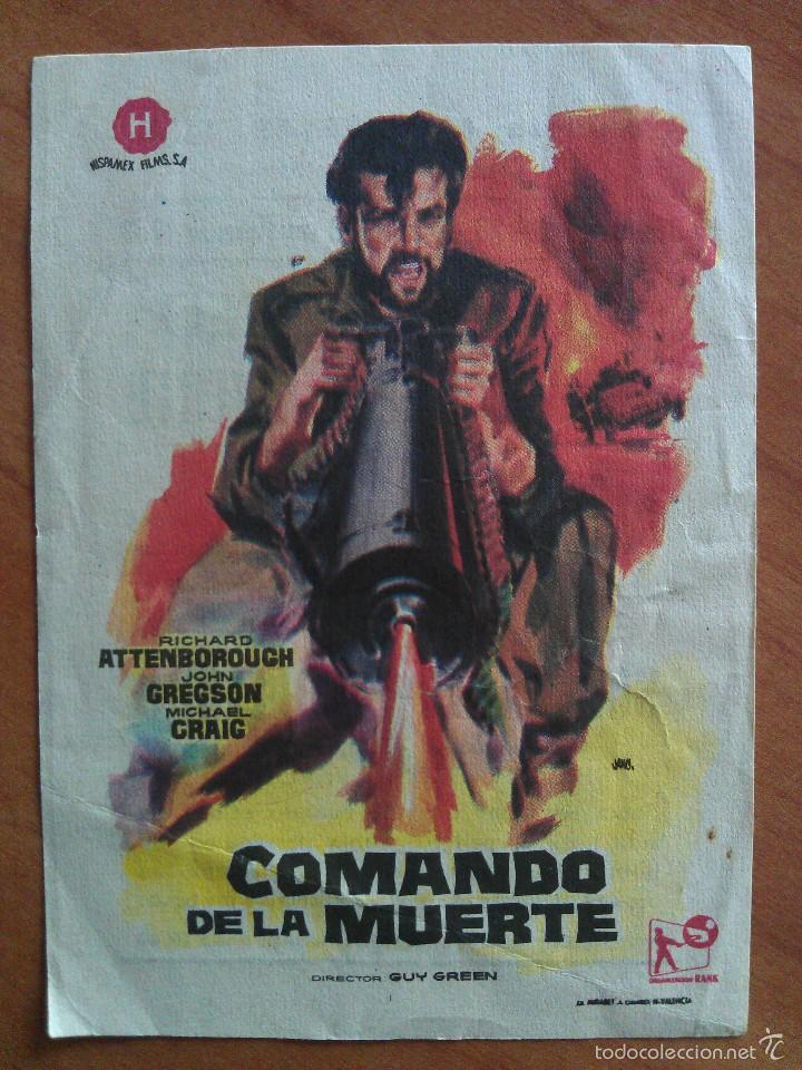 1963 COMANDO DE LA MUERTE (Cine - Folletos de Mano - Bélicas)